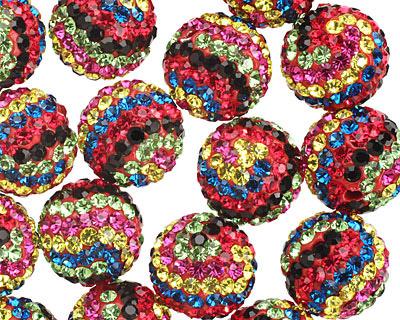 Fiesta Pave (w/ Preciosa Crystals) Round 12mm
