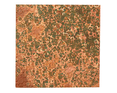 Lillypilly Verde Pebbles Embossed Patina Copper Sheet 3