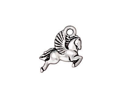 TierraCast Antique Silver (plated) Pegasus Charm 15x20mm
