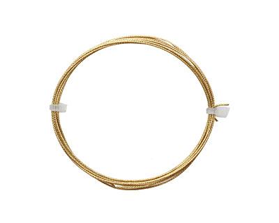 German Style Wire Non Tarnish Brass Weave Pattern Round 20 gauge, 2 meters