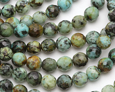 African Turquoise Faceted Round 6mm
