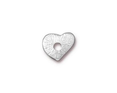 TierraCast Rhodium (plated) Heart Rivetable 12mm