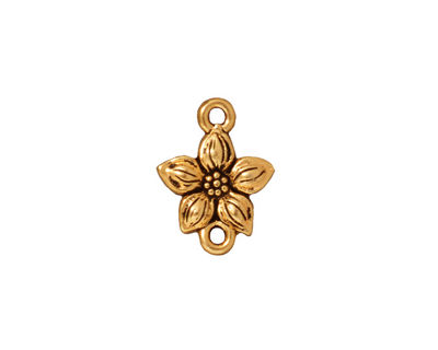 TierraCast Antique Gold (plated) Star Jasmine Link 12x16mm