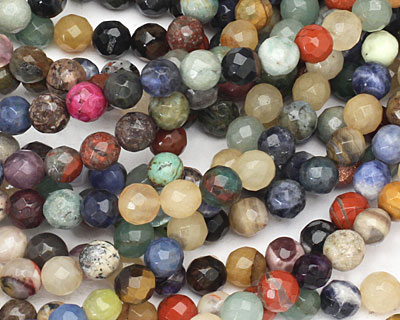 Multi Stone Faceted Round 8mm