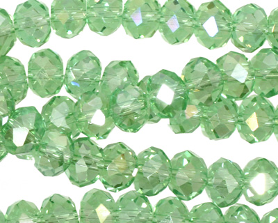 Peridot AB Crystal Faceted Rondelle 8mm