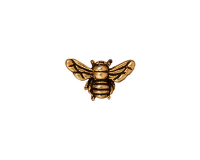 TierraCast Antique Gold (plated) Honey Bee 9x15mm