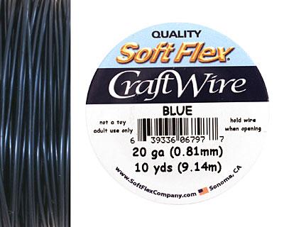 Soft Flex Blue Craft Wire 20 gauge, 10 yards