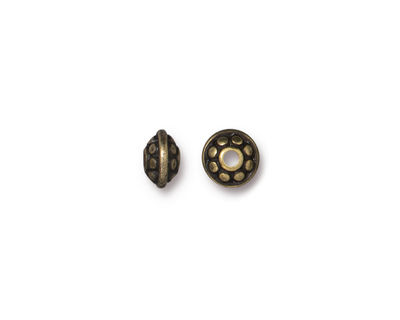 TierraCast Antique Brass (plated) Dotted Spacer 4x6mm