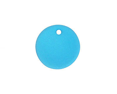 Pacific Blue Recycled Glass Concave Coin 18mm