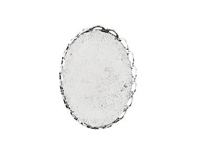 Nunn Design Antique Silver (plated) Vetri Lace Oval Frame 18x25mm