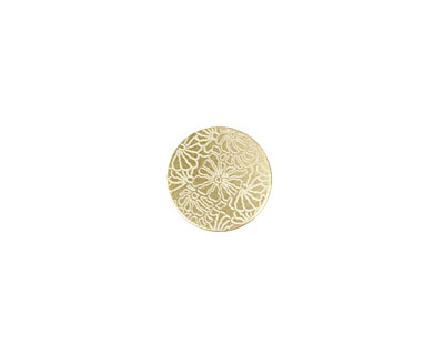 Lillypilly Gold Weathered Daisy Anodized Aluminum Disc 11mm, 22 gauge