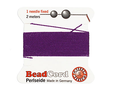 Amethyst Griffin Silk Beading Cord Size 6, 2 meters