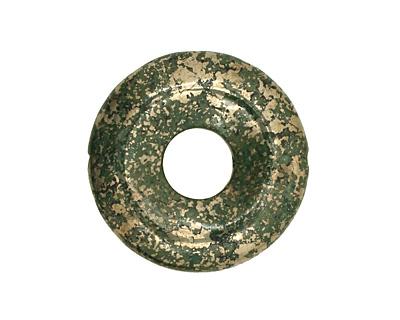 Green Chalcopyrite Drilled Donut 25mm