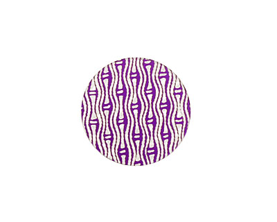 Lillypilly Purple Reeds Anodized Aluminum Disc 19mm, 24 gauge