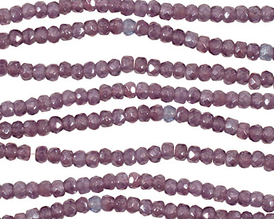 Czech Glass Luster Lilac Fire Polished Rondelle 2x3mm