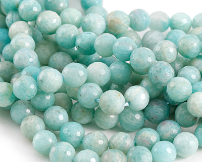 Brazil Amazonite Faceted Round 8mm