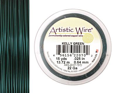 Artistic Wire Kelly Green 22 gauge, 15 yards