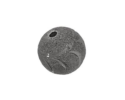 Gunmetal Crescent Moon Round 18mm