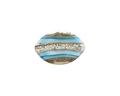 A Beaded Gift Silvered Aqua Layers Zulu 13x19mm