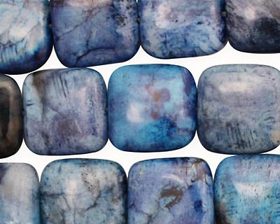 Brazil Blue Agate Puff Square 15mm