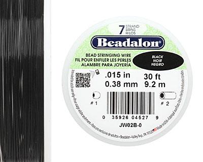 Beadalon Black .015