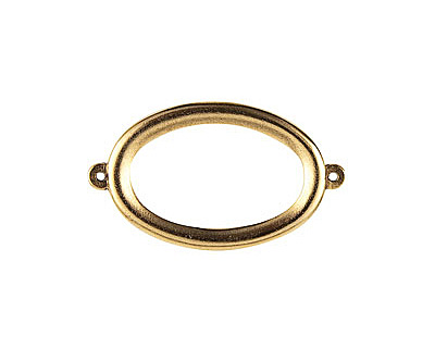 Nunn Design Antique Gold (plated) Grande Oval Connector 44x25mm