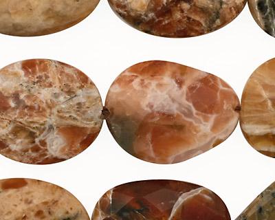 Brandy Opal Faceted Flat Slab 23-28x16-21