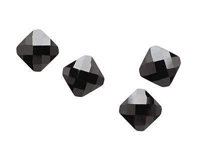 Onyx Faceted Diamond 10mm
