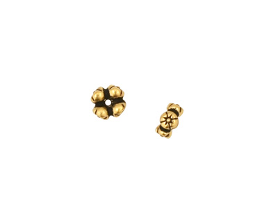 TierraCast Antique Gold (plated) 4 Flowers Heishi 3x6mm
