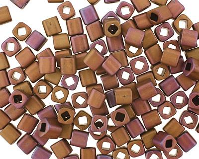 TOHO Matte Mauve Mocha Cube 4mm Seed Bead