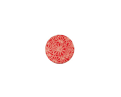 Lillypilly Red Weathered Daisy Anodized Aluminum Disc 11mm, 24 gauge