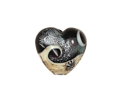 Grace Lampwork Sable Celestial Heart 19-20mm