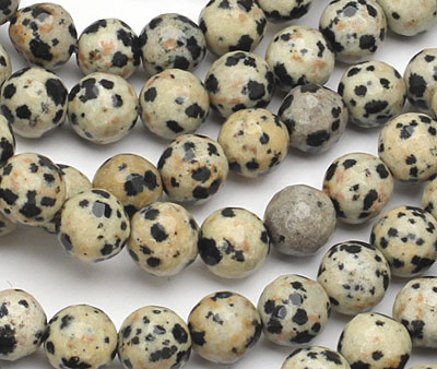 Dalmation Jasper Faceted Round 7-8mm