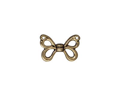 TierraCast Antique Brass (plated) Butterfly Wings 15x11mm