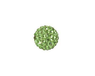 Peridot Pave Round 12mm (1.5mm hole)