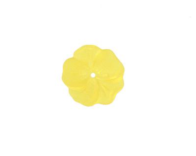 Matte Light Topaz Lucite Buttercup Flower 4x14mm