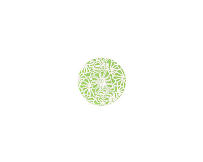 Lillypilly Lime Green Weathered Daisy Anodized Aluminum Disc 11mm, 24 gauge