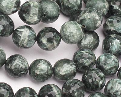 Seraphinite Faceted Round 12mm