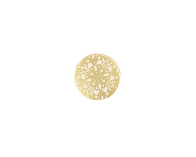 Lillypilly Gold Kaleidoscope Anodized Aluminum Disc 11mm, 22 gauge