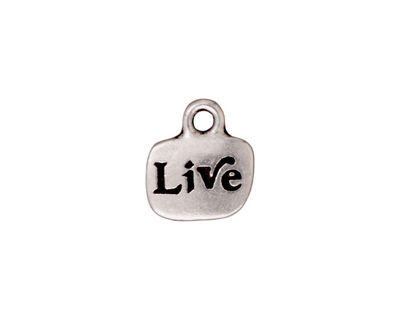 TierraCast Antique Silver (plated) Live Charm w/ Glue In 12x14mm