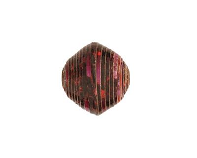 African Paper (black, violet, pink) Bicone 14-15x15-16mm