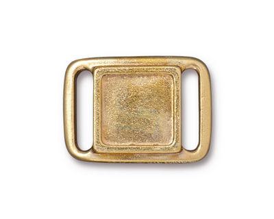 TierraCast Gold (plated) Frame Slide Link 24x17mm