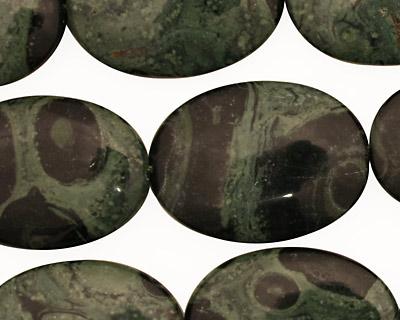 Kambaba Jasper Flat Oval 25x18mm