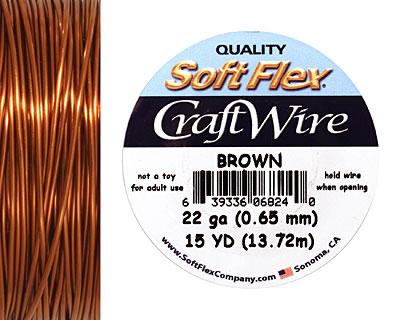 Soft Flex Brown Craft Wire 22 gauge, 15 yards