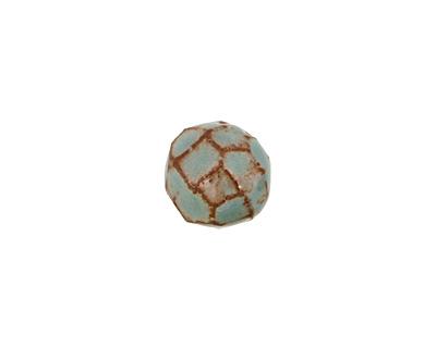 Gaea Ceramic Robin's Egg on Brick Geode Round 15-17x18-19mm