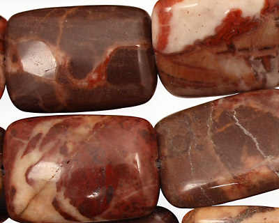 Red Conglomerate Jasper Thin Pillow 25x18mm