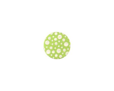 Lillypilly Lime Green Scattered Dots Anodized Aluminum Disc 11mm, 24 gauge