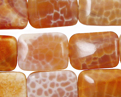 Fire Agate Thin Pillow 18x13mm