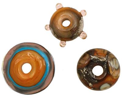 The BeadsNest Lampwork Glass Marmalade Set 7-8x15-21mm