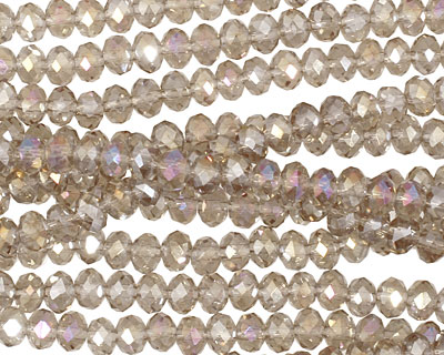Antique AB Crystal Faceted Rondelle 4mm